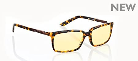 Gunnar Optiks HAU-02301 Haus Full Rim Advanced Computer Glasses with European Modernistic Detailing and Amber Lens Tint, Tortoise Frame Finish