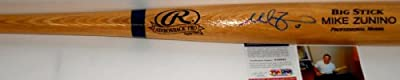 Mike Zunino Seattle Mariners PSA DNA ROOKIE COA Autographed Signed Full Size Blonde Baseball Bat