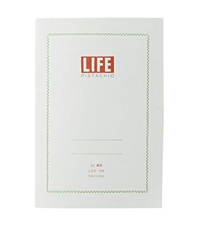 Life Co., Ltd. Pistachio A5 Ruled Notepad, Pistachio