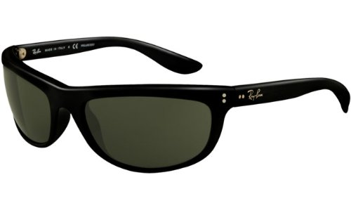 Ray Ban RB4089 Balorama Sunglasses-601/58 Glossy Black (Green Polar Lens)-62mm