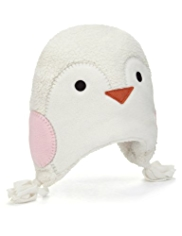 Penguin Design Fleece Trapper Hat