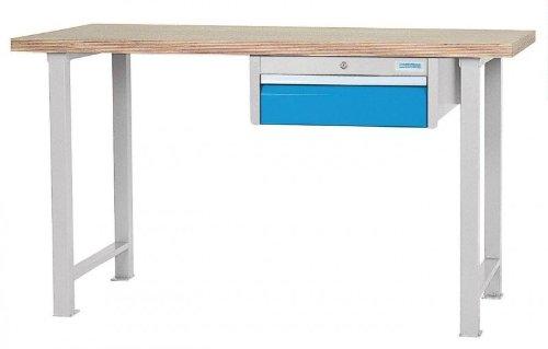 Reihen - Werkbank mit Hängeschubladenblock und