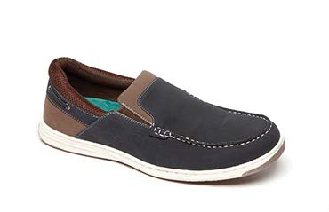 Mens Peter England PE32 Navy Slip On Casual Boat Deck Shoes