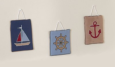 Nautical Nights Sailboat Wall Hanging Accessories by JoJo Designs