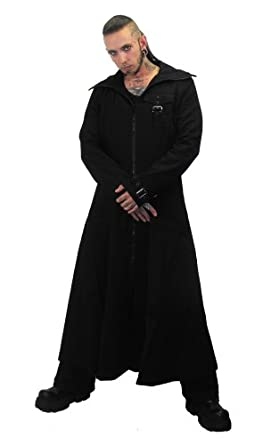 Buy Necessary Evil Marduk Mens Hooded Trenchcoat by Necessary+Evil