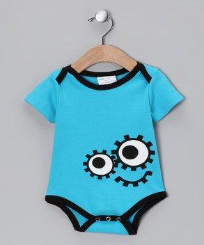 Sckoon Organic Baby Onesie Dede Blue 0 - 6 Months