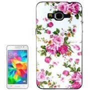 Peony Flower Pattern Plastic Frame TPU Back Cover Protective Case for Samsung Galaxy Grand Prime / G530