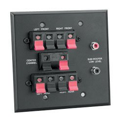 Nutone Cpht200 Home Theater In-Wall Termination Panel Black Not For Use With Intercoms