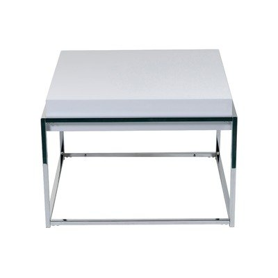 Cheap Greta End Table in Chrome / White (B005P8LIVM)