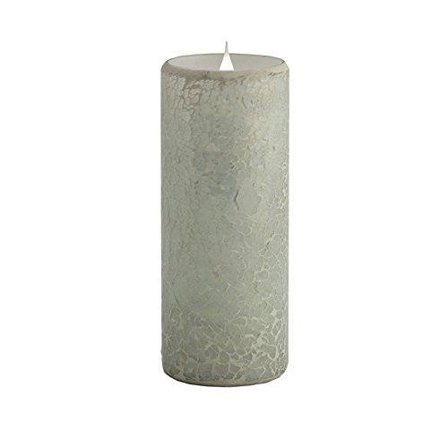 Pacific Accents Solare Crackled Mosaic Flameless Candle by Flipo Group Ltd