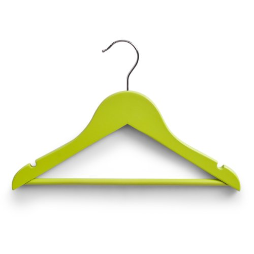 zeller-99929-childrens-clothes-hangers-set-of-3-305-cm-green