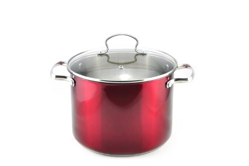 Kevin Dundon SKD8STPRD Stock Pot, 8-Ouart, Red