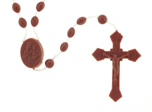 Brown Rosary - 17'' in Length