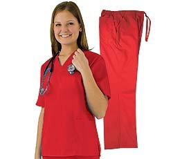 Women's Scrub Set (Assorted Colors, XS-3X) Medical Scrub Top and Pant