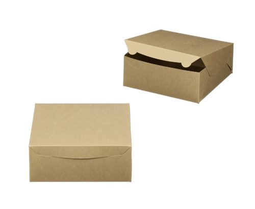 Dress My Cupcake Cupcake Box With Lid And Holder For 6 Standard Cupcakes, Brown, Set Of 200