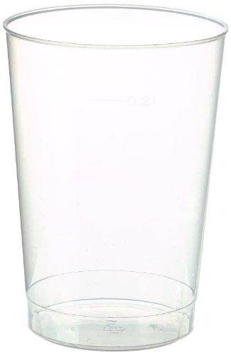 Papstar 40 Tasses - Pp 0,2 L Ø 6,8 Cm X 9,8 Cm - Translucide - Incassable