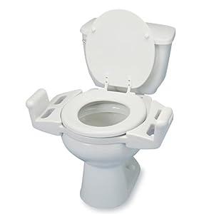 Ableware 725600000 Reversible Toilet Transfer Seat
