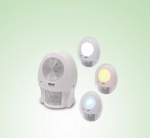 Gsi Quality Portable Indoor Motion Sensor With Super Bright Led Light Or Chime - For Security, Nightlight, Energy Saving, Etc.