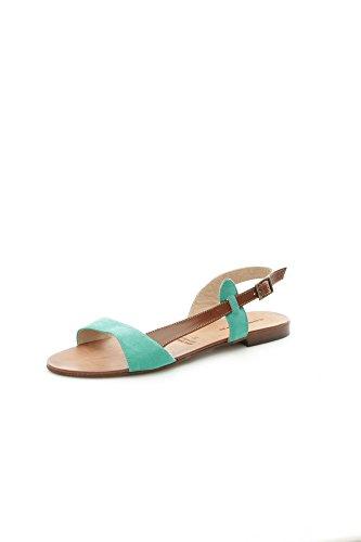 Campo dè Fiori 162.56 Sandali Donna Pelle Verde smeraldo/Cuoio Verde smeraldo/Cuoio 37