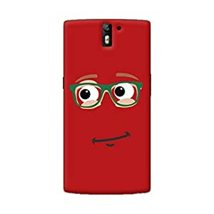 Gobzu Printed Back Covers for OnePlus One - Red Smiley