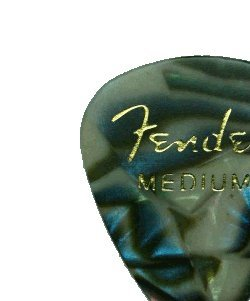Fender 351 Premium Celluloid Guitar Picks, 12 Pack, Abalone, Medium
