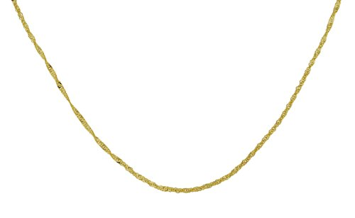 9ct Yellow Gold 30 Twist Curb Chain 46cm
