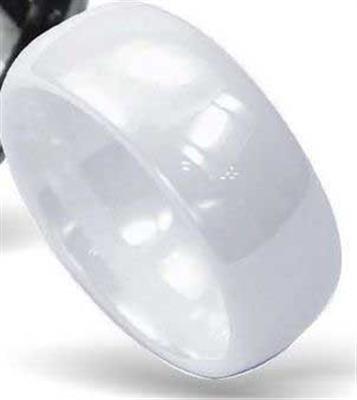 Gioielli Trend zone - Céramique blanc Bague Anneau, brillant ipoallergenico, n° 900041, 27, cod. 90004167