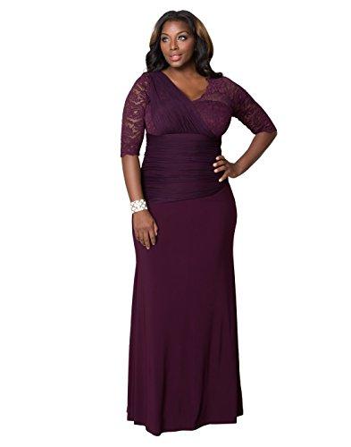 Kiyonna Women's Plus Size Soiree Evening Gown 4x Imperial Plum