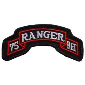 US Army Military Armed Forces Iron On Patch - U.S. Army Ranger Tabs - Rangers 75th Regiment Applique