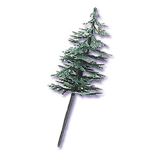 Evergreen Trees for Cake Decorating - 12 ct