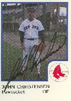 John Christensen Pawtucket Red Sox - Red Sox Affiliate 1986 Pro Cards Autographed... by Hall of Fame Memorabilia