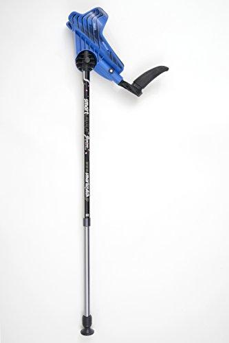 【松葉杖の革命! 】スマートクラッチ<ジーニアス>R-Blue 100%日本製★ついに完成!日本のテクノロジーとていねいなモノづくり精神により大きく進化したスマートクラッチの Japan Model !! (レギュラー, ブルー)