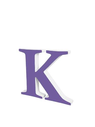 Nordic Child Wooden Letter 20 cm K purple one size