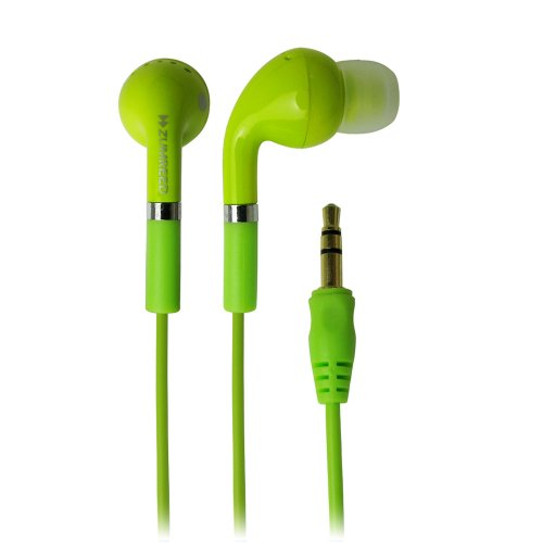 Zumreed Zhp-006 Tone Classic Style Stereo Earbuds, Lime Yellow