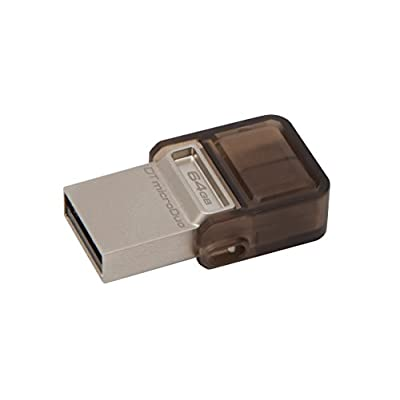 Kingston Digital 64GB Data Traveler Micro Duo USB 2.0 Micro OTG (DTDUO/64GB)