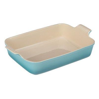 Heritage Stoneware Rectangular Dish Color: Caribbean, Size: 1.1-Qt.