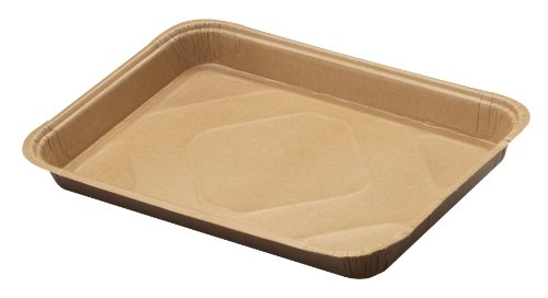 "Solut 42072 Kraft Paper Quarter Sheet Baking Tray, 53-Fluid Ounce Capacity, 12-3/4"" Length X 8-7/8"" Width X 1-1/4"" Height, Natural (Case Of 200)"