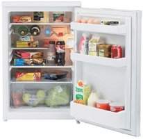 Beko LA620W 55cm larder fridge, 4.8 cu ft capacity, A rated, white