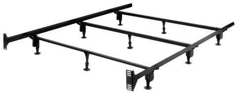 Superb Heavy Duty Metal Bed Frame with Headboard Brackets