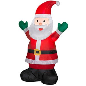 awesome inflatable u santa claus holiday christmas price with walmart outdoor christmas decorations