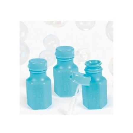 Fun Express 48 Mini Hexagon Baby Blue Bubble Bottles