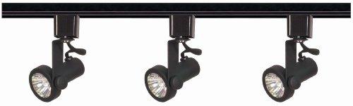 Nuvo Lighting TK352 3-Light 50-Watt MR16 Gimbal Ring Track Light Kit, Black (Commercial Track Lighting compare prices)