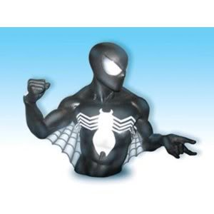 Monogram Marvel Spider-man In Black Bust Cool Superhero Bank - Makes An Exciting Decoration! Toy / Game / Play / Child / Kid Picture