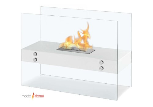 Moda Flame Avila Contemporary Indoor Outdoor Ethanol Fireplace In White photo B00C9JN2H8.jpg