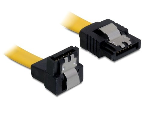 DELOCK Kabel SATA 6Gb/s 20cm gelb un/ge Metall