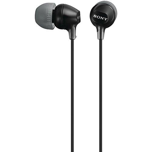 Sony Mdr-Ex15Lp/B Fashion Silicone Earbuds, Black