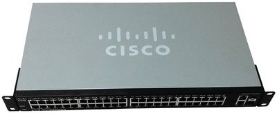 Cisco SF200-48 Smart Switch. SF200-48 SLM248GT-NA 48PORT 10/100 SMART SW W/ GIGABIT UPLINKS STD-SW. 50 Port - 2 Slot - 48, 2 x 10/100Base-TX - , 10/100/1000Base-T - 2 x SFP (mini-GBIC) Slot