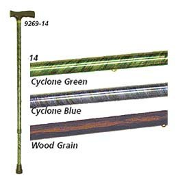 Decorative Aluminum Adjustable Canes - Color: Cyclone Green - Model 926914