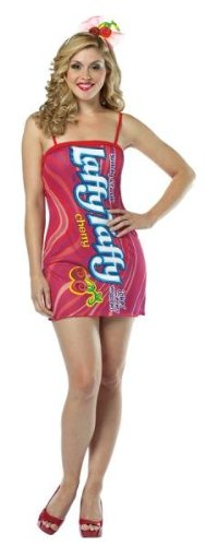 Costumes For All Occasions GC3977 Laffy Taffy Tube Dress Cherry