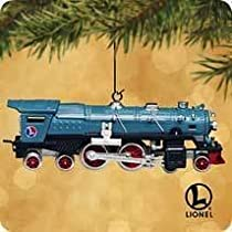 2002 Hallmark Ornament Lionel Blue Comet 400E Steam Locomotive # 7 in Series